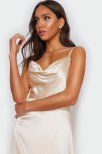 Luxe satin Jenny v-back dress