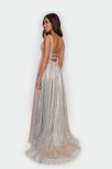 Lux Silver glitter caille dress