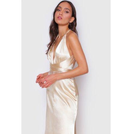Ryne Muti-way Long Straps Satin Dress