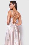 Kylo Lace Up Back Satin Dress