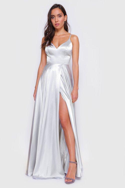 Blake Open Back Satin Dress
