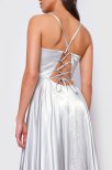 Blake Open Back Satin Dress