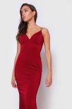 Morris Open-Back Long Fitted Dress