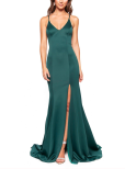 Miranda Deep-V Low Back Fitted Gown